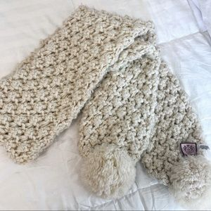 Juicy Couture white scarf